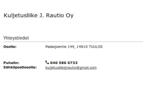 Kuljetusliike J Rautio