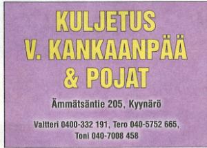 Kuljetusliike V. Kankaanpää